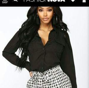 Nwot Fashion Nova Button down shirt